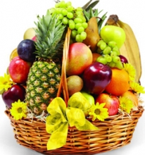 Christmas Fruits in a Basket