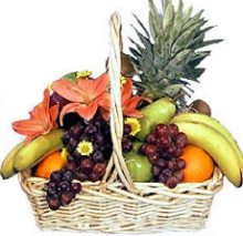Hearty Basket full of Juicy Fruits