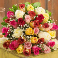 36 Fresh Mixed Roses Bouquet