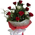 3 White & 9 Red Roses Bouquet