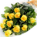 Dozen fresh yellow roses boquet