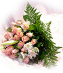 24 Peach Roses in Bouquet