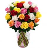 24  Mix Rose in Vase