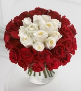 36 Mix Red and White in Vase