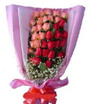36 Multi Color Roses in Bouque