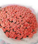48 Peach Roses in Bouquet