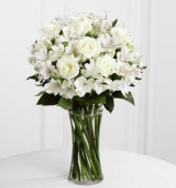 6 White Roses Celebrating Friends