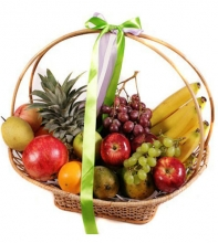 Fruits Gift Decorated round Basket