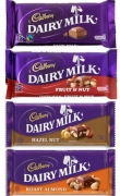 Cadbury Dairy Milk 8 Varieties. 45g each