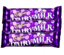 Cadbury Dairy Milk. 3 Bars. 30g and 15g Each