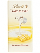 Lindt Swiss Classic: White Chocolate 100g
