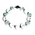 White Cats Eye and Clear Crystals Bracelet FREE Earrings