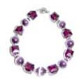 Purple Cats eye with Crystals Bracelet FREE Earrings