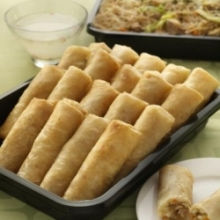 Fried Mini Lumpiang Ubod Cater Tray by Max's