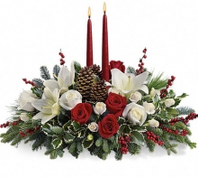 Beautiful Christmas Flowers and Candles