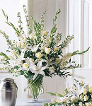 White Sympathy in a Clear Vase