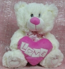 White Love Bear 13""
