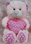 Pink I Love You Hug Bear 18""
