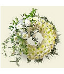 White as Purity Round Wreath