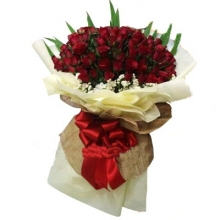 Very Beautiful 100 Red Rose Bouquet