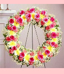 Excellent Wreath of Colorful Flowers