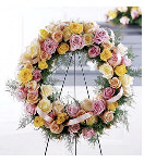 Multi Colored Roses Wreath.