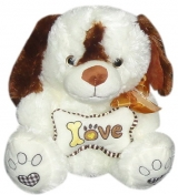 "11.5"" Dog with Love Bone Pillow"
