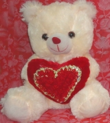 "12"" Bear with Red Heart"