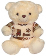 "13"" Bear w/ Shirt Embroidered with Bear"