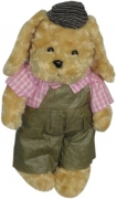 Bear with Pink Collar in Brown Jumper w/ Cap