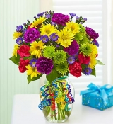 colorful vase of bright