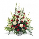 Red and White Spray Arrangement