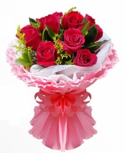 (Same Day ) Always Beautiful 12 Red Roses in Bouquet