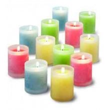 12 pcs Wonderful Candles with Glass Holder!