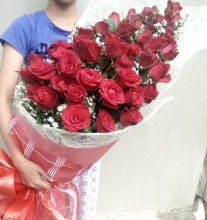 48 Red Roses in Bouquet