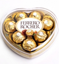 Heart shape ferrero rocher chocolate 96g