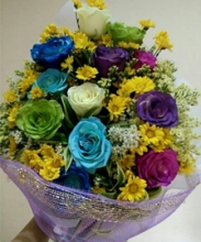 HOT ***Mixed Roses in Bouquet