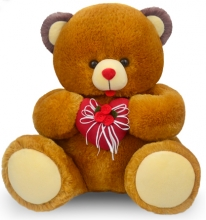 Brown Color Teddy with Red Heart