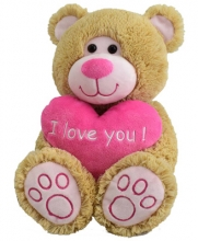 Brown Color Teddy Bear with I love Heart