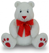 9 Inch White Color Teddy Bear