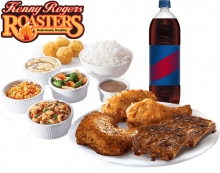 Rib and Chicken Platter Group Meal By Kenny Rogers