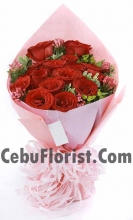 12 Rose Bouquet for Valentine