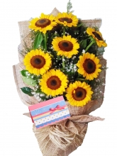 8 Pieces Sunflowers in Bouquet
