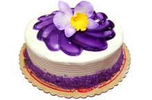 Ube Bloom Cake by Red Ribbon
