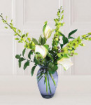 3pcs Dendrobium Orchids w/ Anthuriums in a Vase