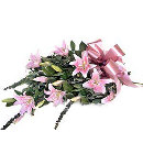 6 pcs bouquet of pink oriental lilies