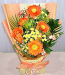 5pcs Orange Gerbera in a Bouquet