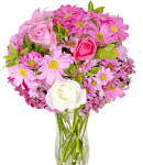 Fresh Pink Flowers in a Vase