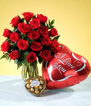 Valentines Gift To Cebu Balloon Flower Chocolate