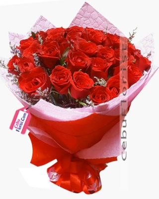 Red Roses In Bouquet 24 Pcs Delivery Cebu City Philippines